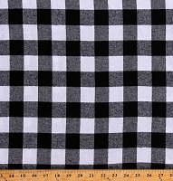 Flannel Black and White Buffalo Plaid 1.25