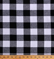 Flannel Black and White Buffalo Plaid 1.75