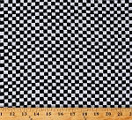 Flannel Clown Check Black and White Checkered Squares Checks 44