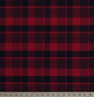 Flannel Red and Black Plaid 58