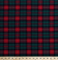 Flannel Red Green Yellow Plaid Christmas Winter Holiday Plaid Check 58