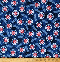 Flannel Chicago Cubs Tie Dye Blue MLB Pro Baseball Sports Team Cotton Flannel Fabric By the Yard (60097b)