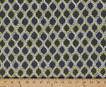 Cotton Ariel in Citron Yellow and Gray Pastel Leaves Cotton Fabric Print by the Yard (9085w-9m-gray)