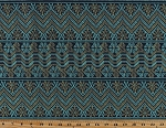 Amy Butler Bright Heart Cosmo Weave in Midnight Chevron Stripes Flowers (5 Parallel Stripes) Cotton Fabric Print by the Yard (pwab152-midni)