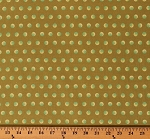 Cotton Tula Pink Pearls of Wisdom Tart Green Circles Polka Dots Cotton Fabric Print by the Yard (PWTP067)