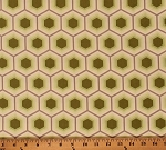 Cotton Tula Pink Honeycomb Geometric Hexagons Sprout Green Bumble Cotton Fabric Print by the Yard (PETP002-82SPROUT)