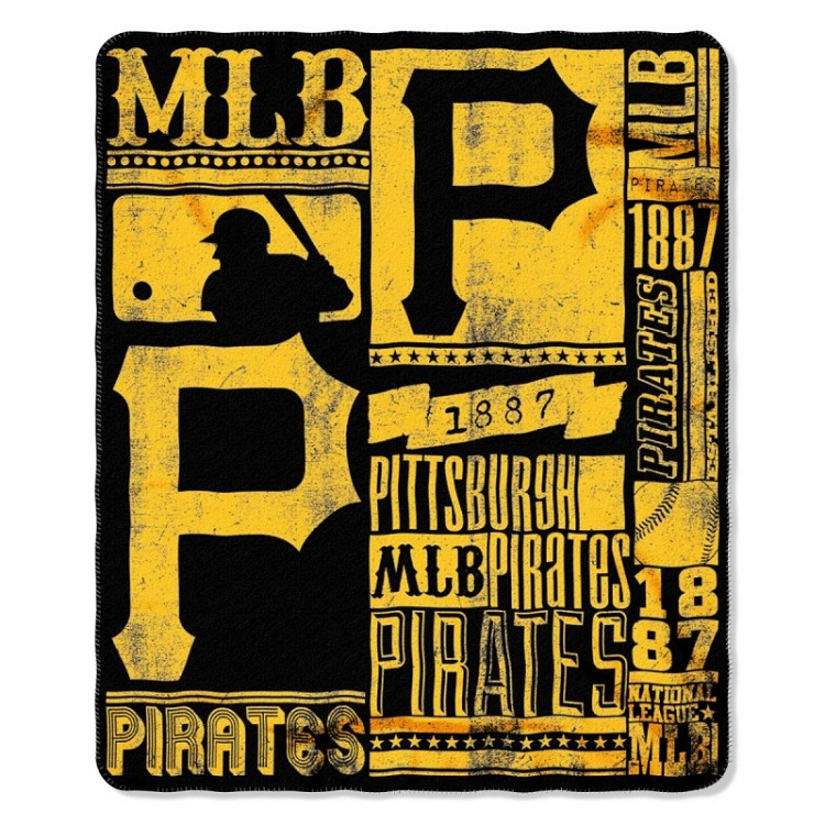 Pittsburgh Pirates Mlb Baseball Sports Team 50x60 Fleece Fabric Throw