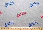Baseball on Grey Heather Knit Cotton Blend Print By Yard Fabric Print (3073g-2j)