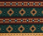 Cotton Southwestern Stripes Geometric Diamonds Indian Native American Aztec Tribal Southwest Teal Brown Cotton Fabric Print by the Yard (DT-6847-7C-1)