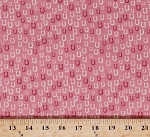 Cotton Horseshoes Horseshoe Horse Shoes Equestrian Horses Gear Ranch Country Western Farm Farrier Cowgirls Howdy Pink Cotton Fabric Print by the Yard (20555-19)