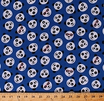 Cotton Pandas Panda Bear Faces Expressions Bears Wearing Glasses Animals Kids Blue Cotton Fabric Print by the Yard (FUN-C5423BLUE)