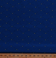 Cotton Royal Blue Mattress-Look with Yellow Buttons Corduroy Children's Book Coordinate Kids Organic Cotton Fabric Print by the Yard (157312)