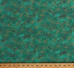 Cotton Dragonflies Insects Bugs Gold Metallic Shimmer Dragonfly on Teal Green Koi Pond Cotton Fabric Print by the Yard (22349M-66TEAL)