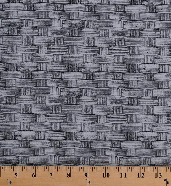 Cotton Basket Weave Woven-look Gray Blue Tim Holtz Eclectic Elements ...