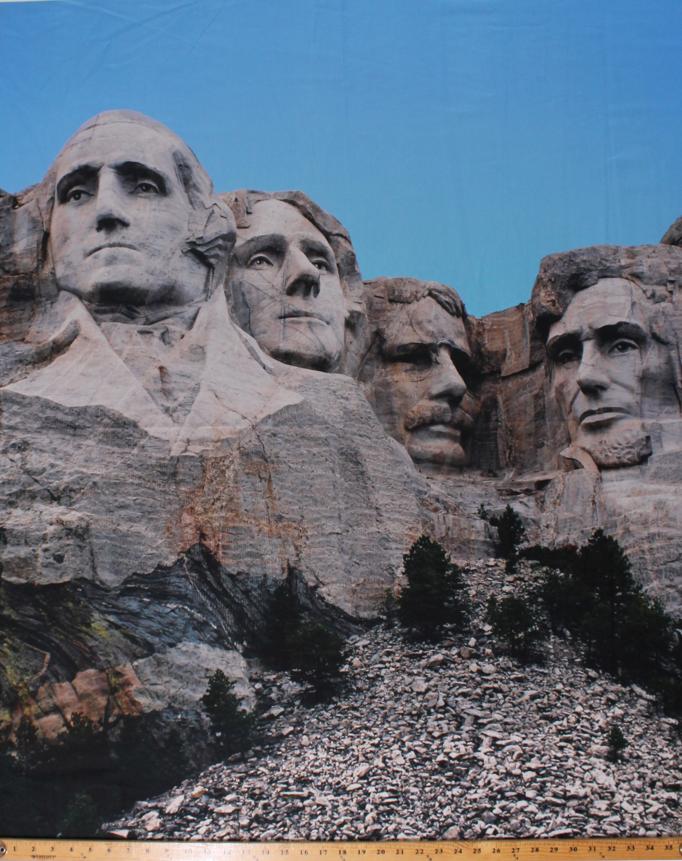 51565P-X D370.50 36 X 44 Panel Mount Rushmore Monuments American Presidents National Memorial Photograph Cotton Fabric Panel