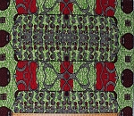 Cotton African Print Chaigany Wax Uma Green Red Black Block Print Tribal Designs Cotton Fabric Print by the Yard (68215-647078DR)