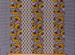 Cotton African Print Chaigany Wax Khendi Yellow Black White Stripes Block Print Flowers Floral Africa Cotton Fabric Print by the Yard (38212-D65078DR)
