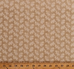 Cotton Something Blue by Edyta Sitar Summer Field in Bisque Tan Flowers Floral Cotton Fabric Print by the Yard (A-8826-L)