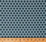 Cotton Something Blue by Edyta Sitar Maid of Honor in Sky Dark Blue Polka Dots Spots Circles on Light Blue Cotton Fabric Print by the Yard (A-8831-W)