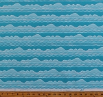 Cotton Ocean Waves Sea Lake Water Beach Summer Vacation Landscape Just Beachy Cotton Fabric Print by the Yard (1222-16)