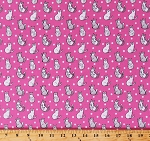 Cotton Cats Animals Pets Cute Gray and White Kittens and Polka Dots on Pink Catnip Cotton Fabric Print by the Yard (50823-5)