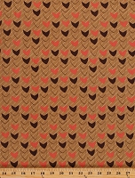 Cotton Modern Neutrals Beacon Coral Pink Arrows Arrowheads Waves on Tan Brown Cotton Fabric Print by the Yard (3502-12)