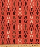 Cotton Arrows on Coral Southwestern Southwest Modern Neutrals Cotton Fabric Print by the Yard (3501-13)