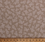 Cotton Pinecones Pine Cones Needles Fir Tree Branches Twigs Nature Snow Holidays Festive Taupe Brown Christmas Winter Wonderland Patrick Lose Cotton Fabric Print by the Yard (62704-J370715)
