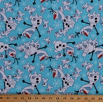 Cotton Olaf Disney Frozen Snowman Snowgies Snow-Babies Toss Kids Blue Cotton Fabric Print by the Yard (56848-1600715)