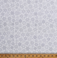 Cotton Snowflakes Snow Winter Christmas Holiday Patrick Lose Snowfall White Cotton Fabric Print by the Yard (66744-E180715)