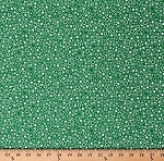 Cotton White Stars Circles Wreaths on Green Patrick Lose Festive Lucky St. Patrick's Day Holiday Cotton Fabric Print by the Yard (63944-5940715)