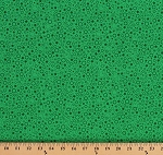 Cotton Green Tone on Tone Stars Circles Patrick Lose Festive Jolly Holiday St. Patrick's Day Cotton Fabric Print by the Yard (63944-6470715)