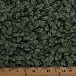 Cotton Landscape Pine Needles Tree Branches Evergreens Greenery Foliage Green with Silver Metallic Shimmer Winter Cotton Fabric Print by the Yard (HOLIDAY-CM5168-GREEN)