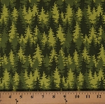 Cotton Pine Trees Evergreens Forest Nature Into the Woods Patrick Lose Let's Go Camping Green Cotton Fabric Print by the Yard (63942-6470715)