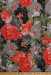 Cotton Blushing Peonies Peony Flowers Floral Blooms Blossoms Garden Spring Nature Cotton Fabric Print by the Yard (48610-18)
