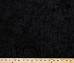 Black Crushed Panne' Stretch Velvet Fabric By the Yard (9670P-12M)