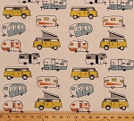 Home Decor Retro Campers Trailers Vans Camping RV's on Cream 45
