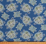 Home Decor Sea Turtles on Blue Tranquil Turtles Indoor Decor Upholstery Weight Fabric by the Yard (D451.11)