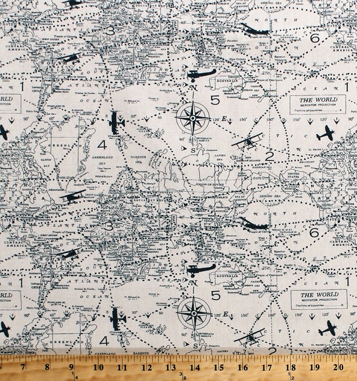 Map fabric by the yard yard and tent photos ceciliadeval maps world map cotton fabric collection of images all over gumiabroncs Image collections