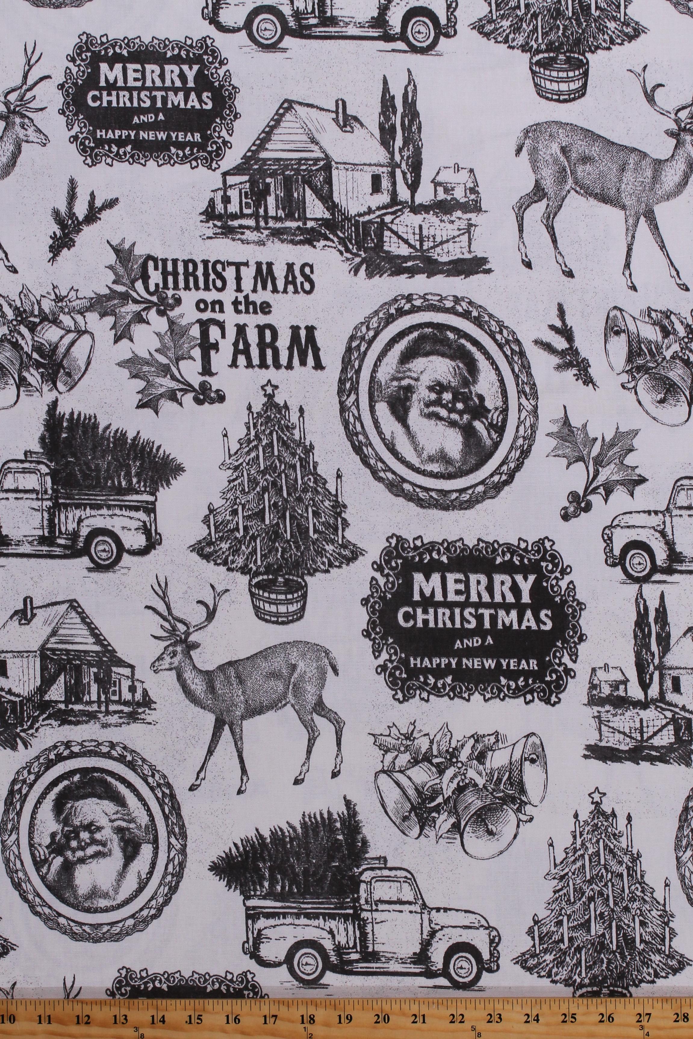 Home Decor Duck Fabric Nostalgic Christmas Santa Claus ...