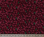 Cotton Cherries Cherry Allover Harvest Fruits Food Festival Summer Red Cotton Fabric Print by the Yard (577RED)