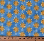 Cotton Suns The Sun on Blue Sky Sunshine Eggcellent Adventure Cotton Fabric Print by the Yard (112-28871)