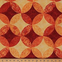 Cotton Ambience Coordinate Tahiti Sun Geometric Circles Cotton Fabric Print by Yard (20708-24)