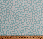 Cotton Gems Gemstones Jewels Diamonds Crystals Precious Stones Treasure This and That Blue Cotton Fabric Print by the Yard (AAK-15413-260-CRYSTAL)