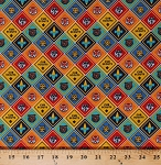 Cotton Cub Scouts Advancement Badges Patches Insignia Boy Scouts of America BSA Scouting Cotton Fabric Print by the Yard (C7204-Multi)