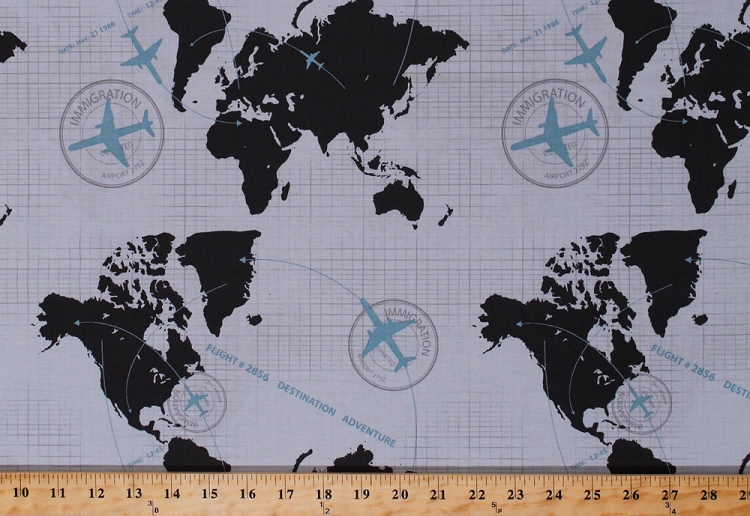 Cotton world map maps continents airplane airplanes planes flight cotton world map maps continents airplane airplanes planes flight routes airlines cartography flying immigration words travel blue gray black detour cotton gumiabroncs Gallery