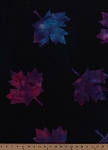 Cotton Falling Leaves Large Purple Blue Maple Leaf Leaves Autumn Fall Nature Cotton Batik Fabric Print by the Yard (R45-7647-0135)