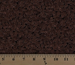 Cotton Coffee Beans Brown Beans Allover on Black Brew Cotton Fabric Print by the Yard (19855-12)