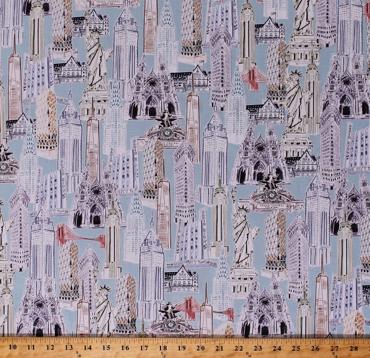 Cotton world monuments landmarks buildings statue of liberty new cotton world monuments landmarks buildings statue of liberty new york skyscrapers capitol cities travel dream vacation cotton fabric print by the yard gumiabroncs Choice Image