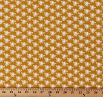 Cotton Bees Honeybees Bugs Insects on Gold In the Meadow Cotton Fabric Print by the Yard (C7993-GOLD)